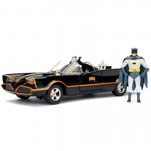 Miniatura - 1:24 - Batman Classic TV Series Batmobile c/ Action Figure - Jada