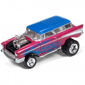 Miniatura - 1:64 - 1957 Chevy Nomad - Roxo - Street Freaks - Johnny Lighting