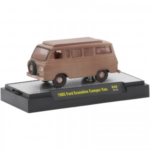 Miniatura - 1:64 - ​​1965 Ford Econoline Camper Van - Marrom Claro - Auto - Projects - M2 Machines