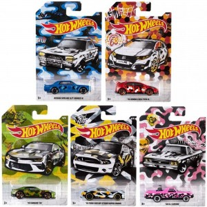 Hot Wheels - Set de 5 Miniaturas - Urban Camouflage - GDG44