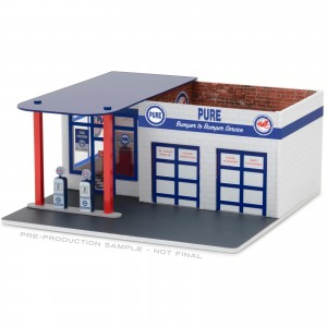 Diorama - 1:64 - Vintage Gas Station Pure - Mechanic's Corner - Greenlight