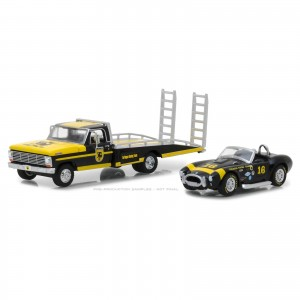 Miniatura - 1:64 - 1969 Ford F-350 Ramp Truck & Shelby Cobra Terlingua Racing Team - Greenlgiht