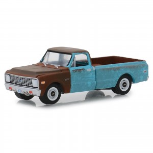 Miniatura - 1:64 - 1971 Chevrolet C-10 - Independence Day - Hollywood 24 - Greenlight