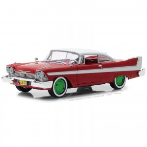 Miniatura - 1:24 - 1958 Plymouth Fury - Christine - Green Machine - Greenlight