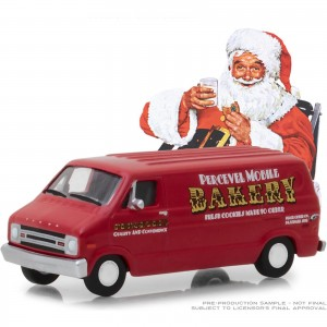 Miniatura - 1:64 - 1977 Dodge B - 100 - Norman Rockwell Delivery - Greenlight