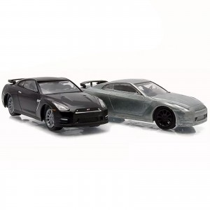 Pack 2 Miniaturas - 1:64 - 2014 Nissan GT - R R35 - First Cut - Greenlight