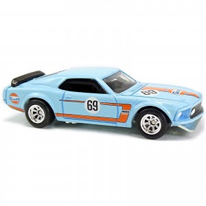 Hot Wheels - '69 Ford Mustang Boss 302 - Car Culture Gulf - GFY03