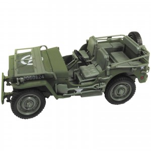 Miniatura - 1:18 - Jeep Willys MB WWII Verde - Auto World