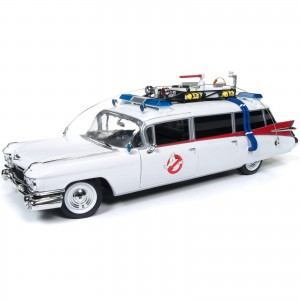 Miniatura - 1:18 - ECTO 1A 1959 Cadillac Eldorado - Ghostbusters Caça Fantasmas - Silver Screen Machines - Auto World