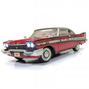 Miniatura - 1:18 - Christine 1958 Plymouth Fury - Silver Screen Machines - Auto World