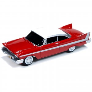 Miniatura - 1:64 - Christine 1958 Plymouth Fury - Silver Screen Machines - Auto World