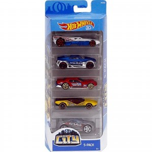 Pack de 5 Hot Wheels - City - FKT52