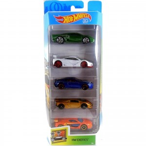 Pack de 5 Hot Wheels - HW Exotics - FKT62