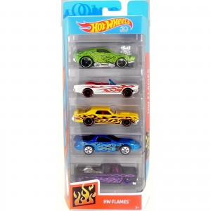 Pack de 5 Hot Wheels - HW Flames - FKT64