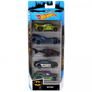 Pack de 5 Hot Wheels - Batman 2019 - FYL09