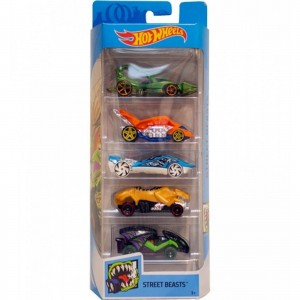Pack de 5 Hot Wheels - Street Beasts 2019 - FYL10