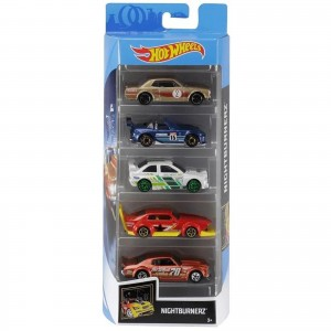 Pack de 5 Hot Wheels - Nightburnerz - FYL12
