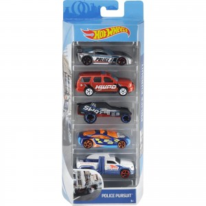 Pack de 5 Hot Wheels - Police Pursuit - FYL15