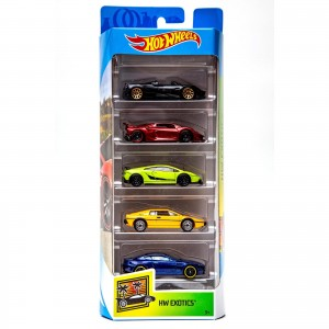 Pack de 5 Hot Wheels - HW Exotics 2019 - FYL17