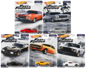 Hot Wheels - Set de 5 Miniaturas - Velozes e Furiosos - Lote C - GBW75