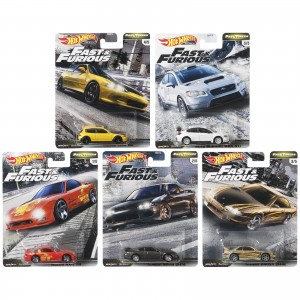 Hot Wheels - Set de 5 Miniaturas - Velozes e Furiosos - Lote F - GBW75