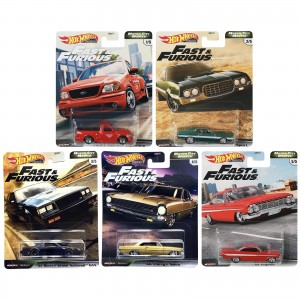 Hot Wheels - Set de 5 Miniaturas - Velozes e Furiosos - Lote G - GBW75