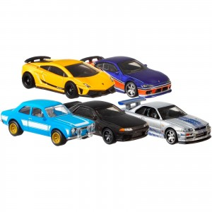 Hot Wheels - Set de 5 Miniaturas - Velozes e Furiosos - Lote A - GBW75