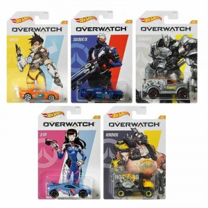 Hot Wheels - Set de 5 Miniaturas - Overwatch - GDG83