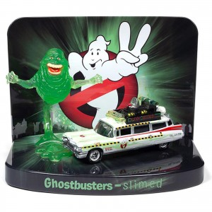 Diorama - 1:64 - Caça Fantasmas Ghostbusters Ecto 1 Slimed  - Silver Screen - Johnny Lightning