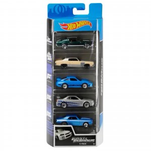 Pack de 5 Hot Wheels - Fast And Furious - Velozes e Furiosos - GHP55