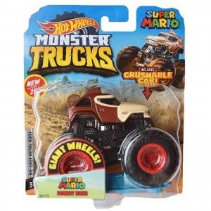 Hot Wheels - 1:64 - Donkey Kong - Super Mario - Monster Trucks - GJD80