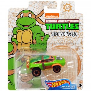 Hot Wheels - Michelangelo - Tartarugas Ninja - Character Cars - GJJ05