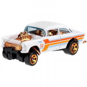 Hot Wheels - '55 Chevy Bel Air Gasser - Aniversário 52 Anos Pearl & Chrome - GJW51
