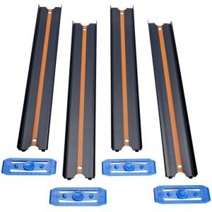 Pista Hot Wheels - 4 Seções Retas - Preta - 90cm - Track & Builder - GLD48