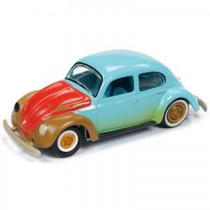 Miniatura - 1:64 - 1951 VW Fusca Split Window Beetle - Azul - Street Freaks - Johnny Lightning