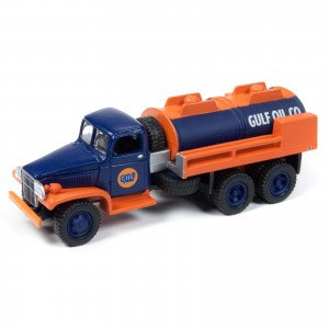 Miniatura - 1:64 - Caminhão GMC CCKW 6x6 Tanker Gulf - Johnny Lightning
