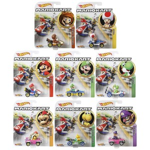 Hot Wheels - Set 8 Miniaturas - Mario Kart - GBG25