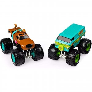 Pack de 2 Miniaturas - 1:64 - Monster Truck Scooby Doo Vs. Mystery Machine - Monster Jam