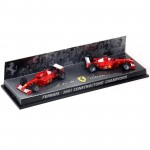 Pack 2 Hot Wheels - 1:43 - Ferrari 2001 Constructor's Champions - Hot Wheels Racing - 55602