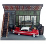 Diorama - 1:64 - Christine an Evil 1958 Plymouth Fury - Silver Screen - Johnny Lightning