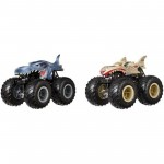 Pack com 2 Hot Wheels - 1:64 - Mega-Wrex vs Leopard Shark - Monster Trucks - FYJ65