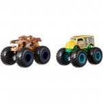 Pack com 2 Hot Wheels - 1:64 - Hotweiler vs Hound Hauler - Monster Trucks - FYJ69