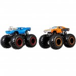 Pack com 2 Hot Wheels - 1:64 - Rodger Doger vs Dodge Charger R/T - Monster Trucks - GBT69