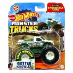 Hot Wheels - 1:64 - Gutter Growler - Monster Trucks - GJD96