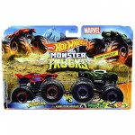 Pack com 2 Hot Wheels - 1:64 - Spiderman vs Venomized Hulk - Monster Trucks - GMR38