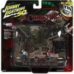 Diorama - 1:64 - 1958 Plymouth Fury Dirty Version - Silver Screen - Johnny Lightning