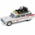 Miniatura - 1:64 - ECTO 1A 1959 Cadillac - Ghostbusters Caça Fantasmas - Silver Screen Machines - White Lightning