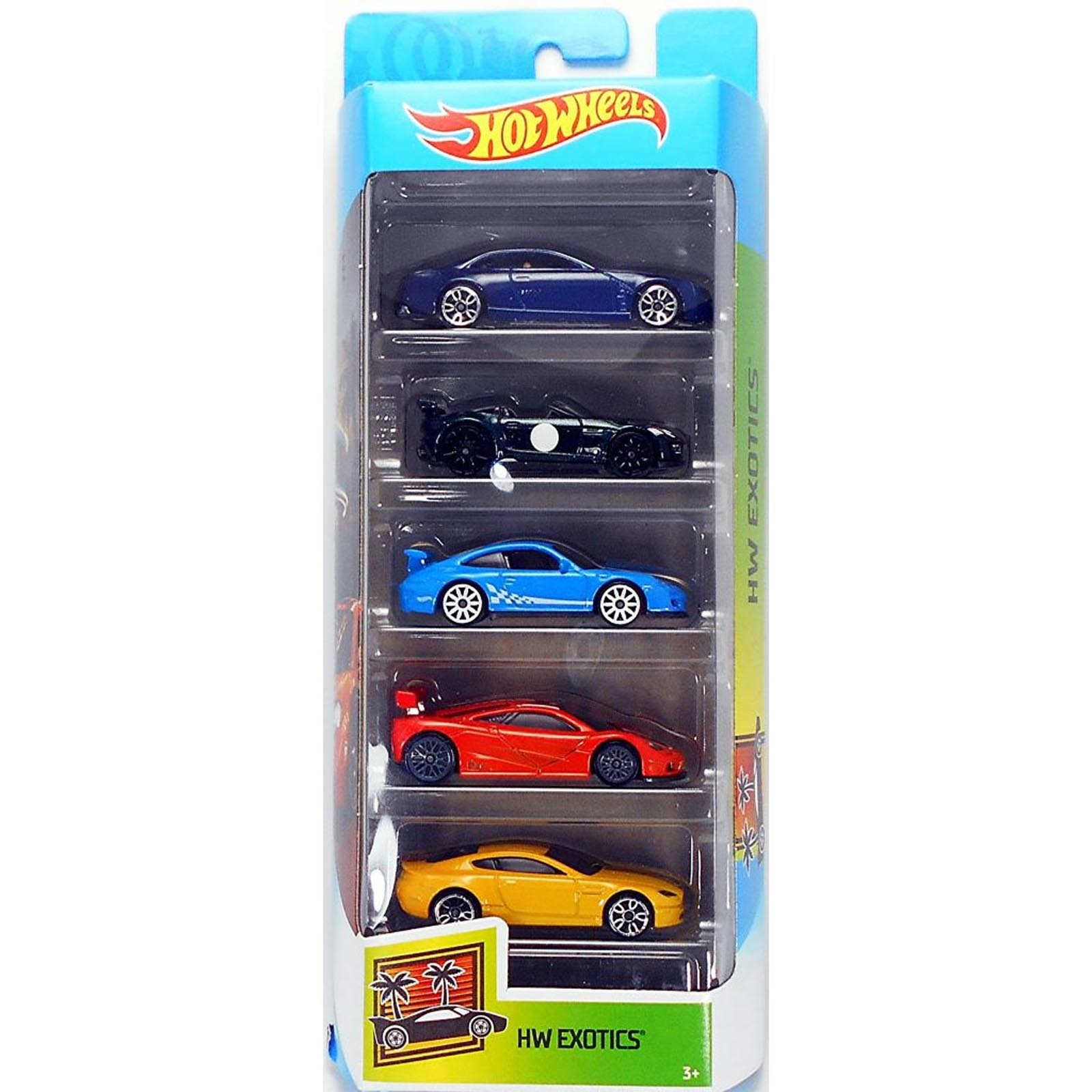 Pack de 5 Hot Wheels - Exotics 2020 - GHP50