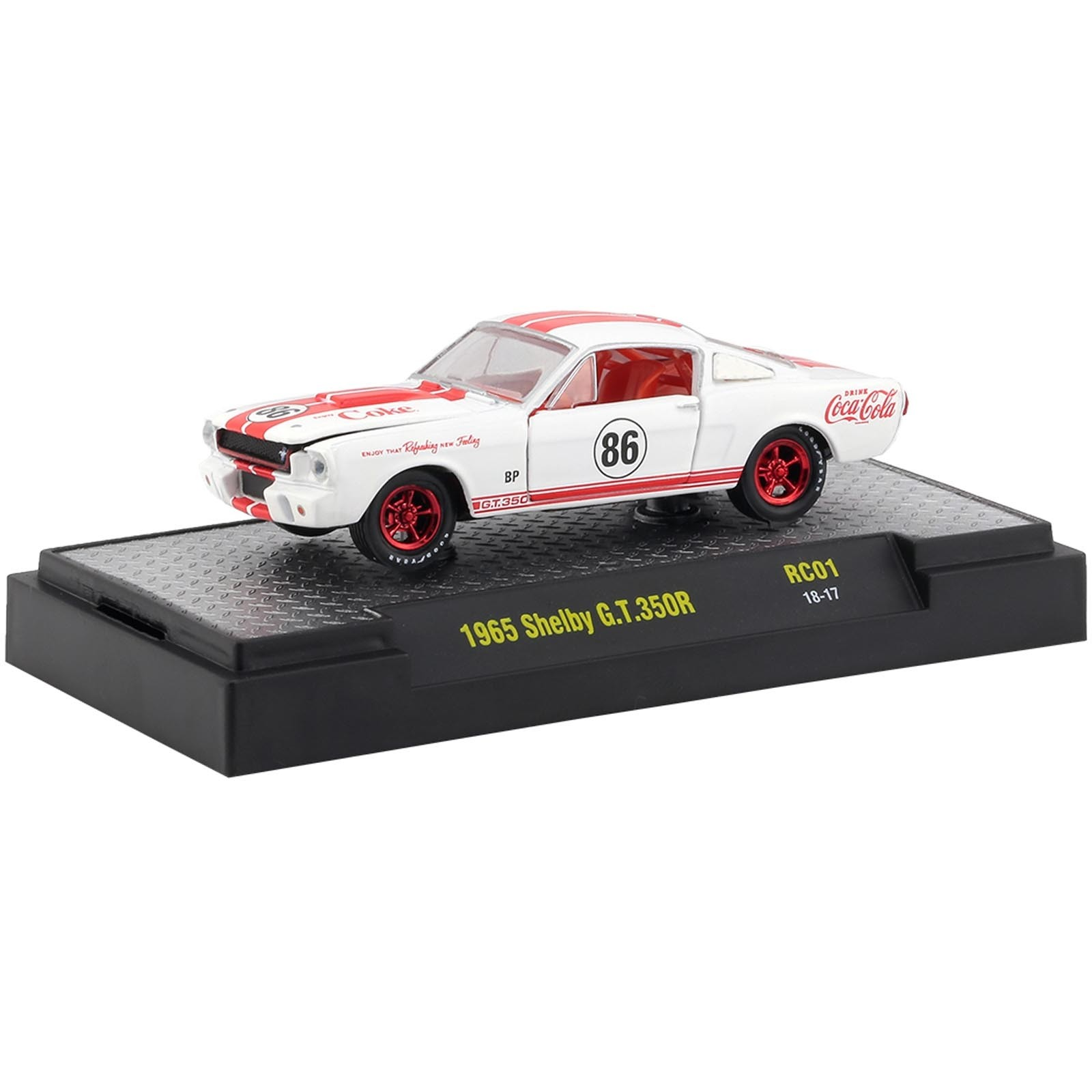 Miniatura - 1:64 - ​​​​​​​​​​​​​​​​​​​​​​​​​​​​​​​​​1965 Shelby GT350R Chase - Coca-Cola RC01 - M2 Machines