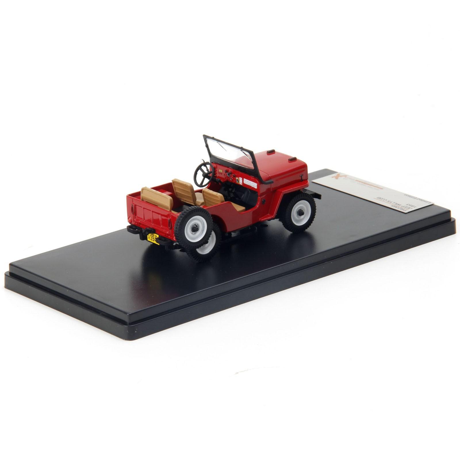 Miniatura em Metal - 1:43 - Jeep Willys CJ3B - 1953 - Vermelho
